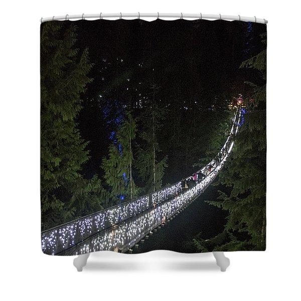 Christmas At Capilano Suspension Bridge Shower Curtain