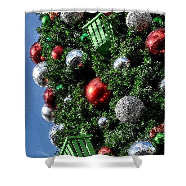 Christmas Balls Shower Curtain