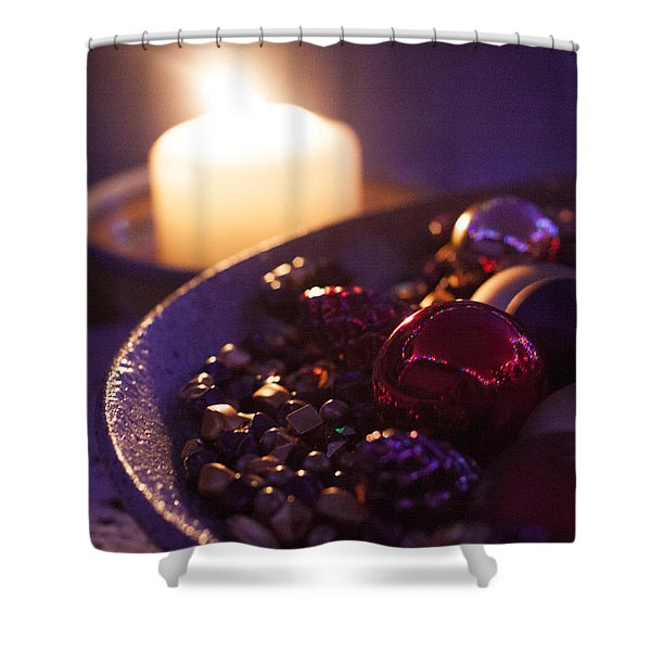 Christmas Candlelight Shower Curtain