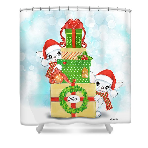 Christmas Chi Elves Shower Curtain