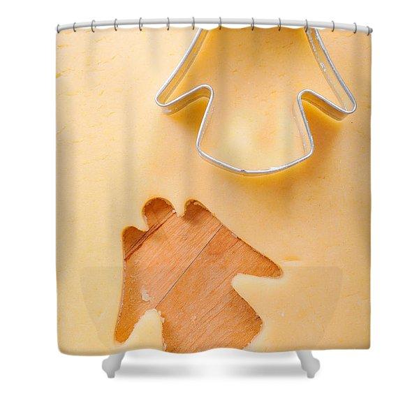 Christmas Cookie Angel Shape Shower Curtain