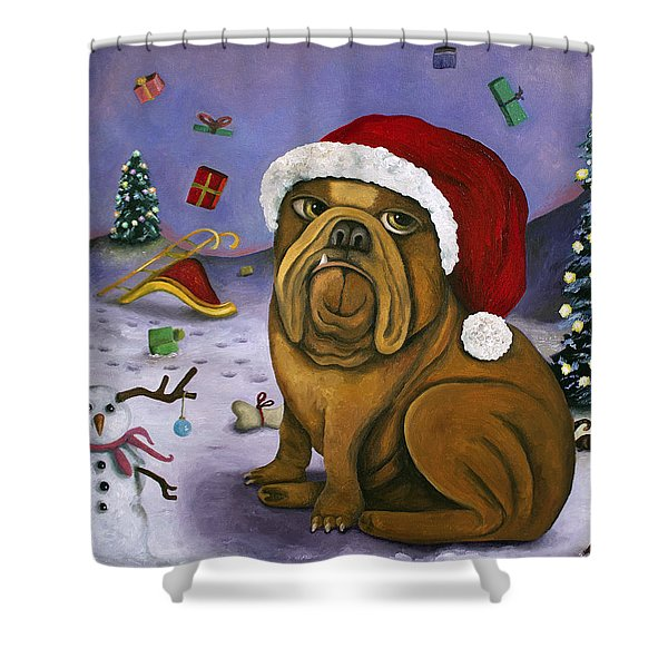 Christmas Crash Shower Curtain