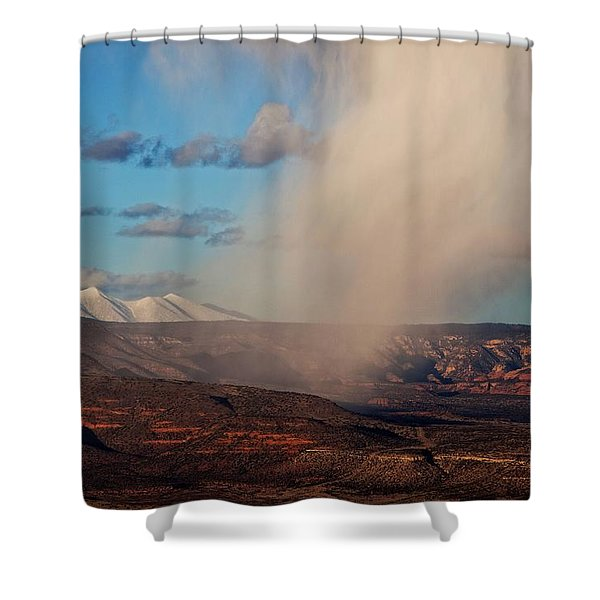 Christmas Day Snow Mix San Francisco Peaks Shower Curtain