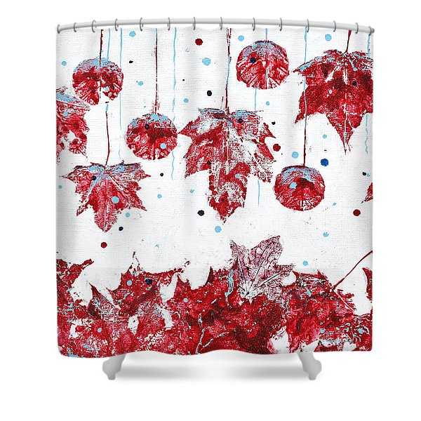 Christmas Decorations Of Nature Shower Curtain