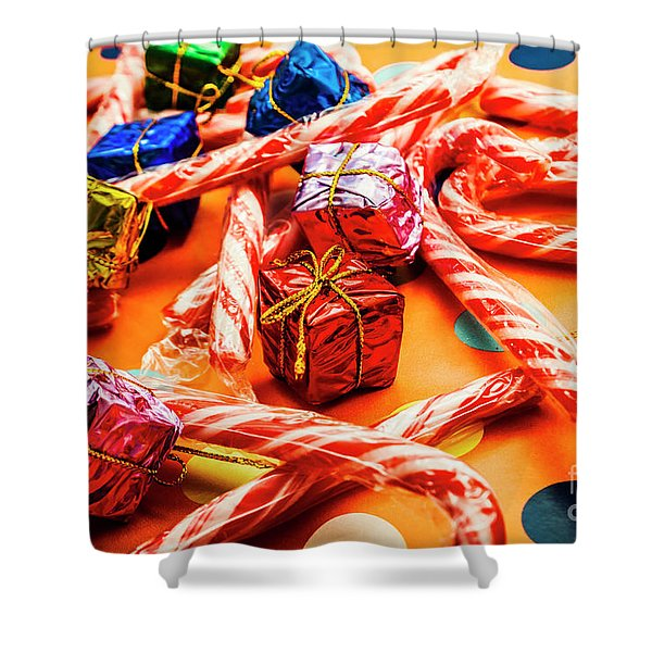Christmas Holiday Background Shower Curtain