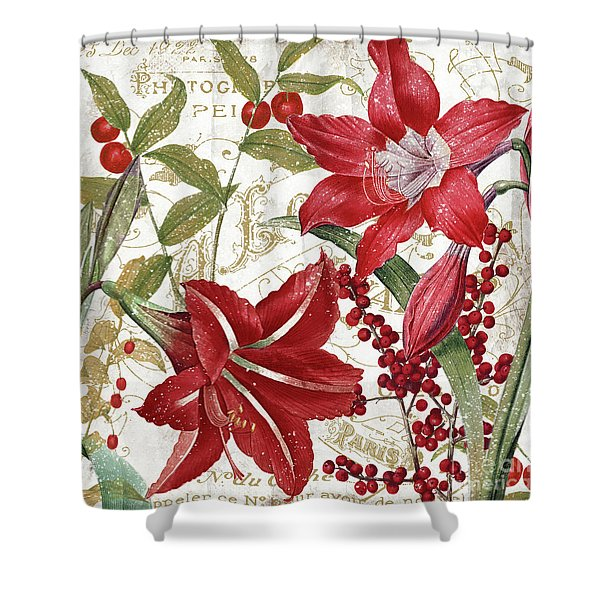 Christmas In Paris I Shower Curtain