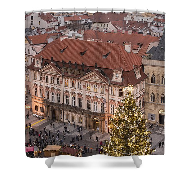 Christmas In Prague Shower Curtain