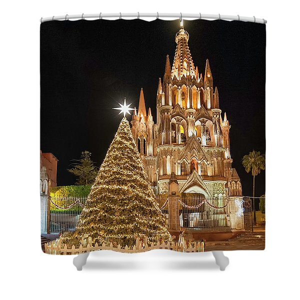 Christmas In San Miguel Shower Curtain