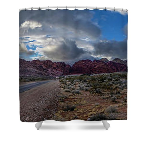 Christmas In The Desert Shower Curtain