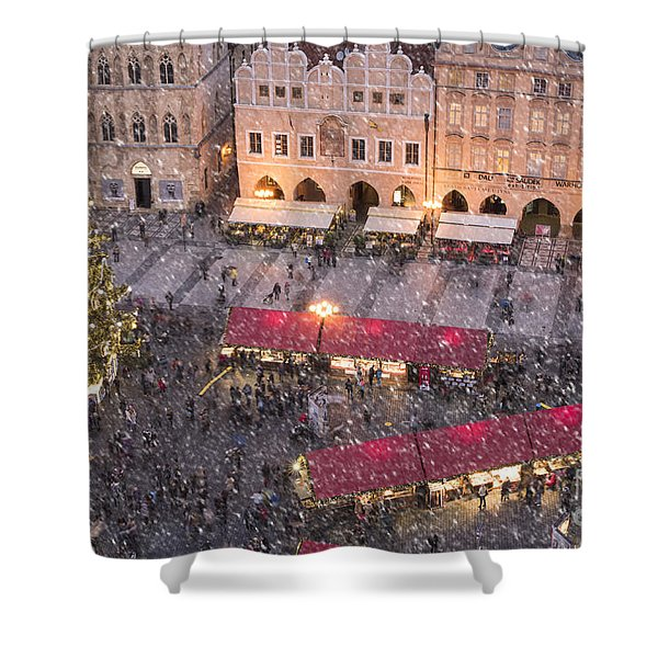 Christmas Market In Prague Shower Curtain