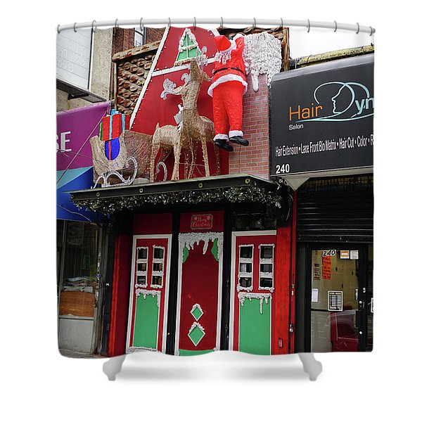 Christmas On Sherman Avenue  Shower Curtain