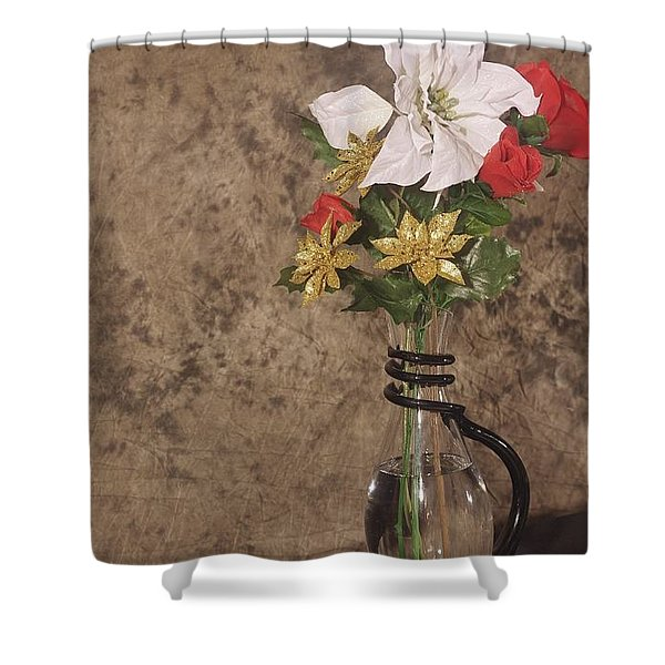 Christmas Pitcher Shower Curtain