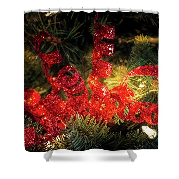 Christmas Red Shower Curtain