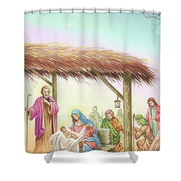 Christmas Scene 1 Shower Curtain