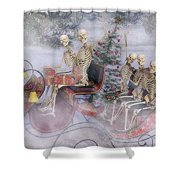 Christmas Spirits Heading To Topsail Island Nc Shower Curtain