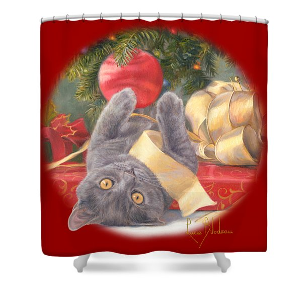 Christmas Surprise Shower Curtain