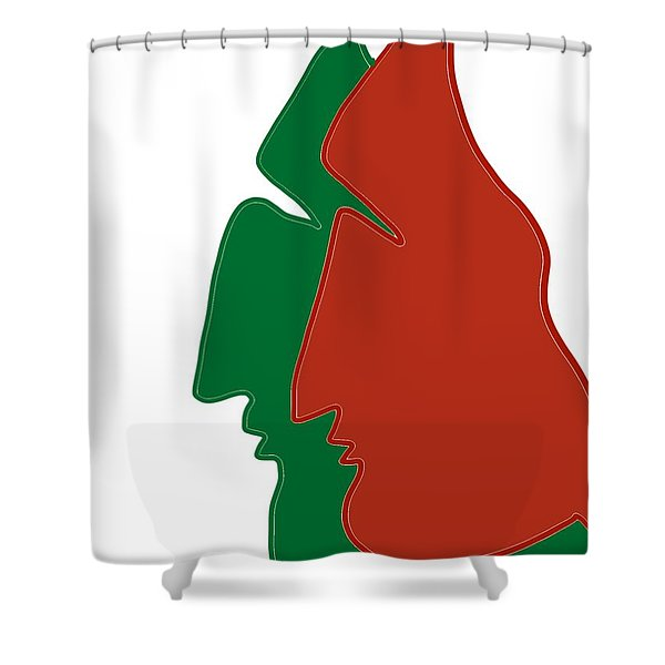 Christmas Together Shower Curtain