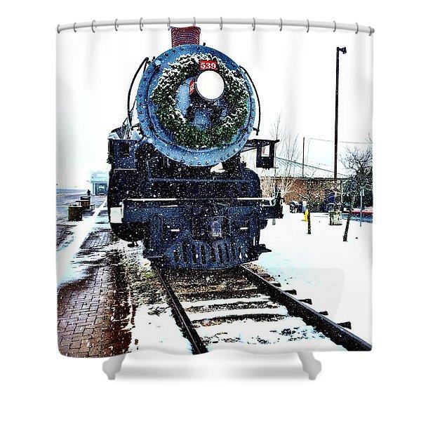 Christmas Train Shower Curtain