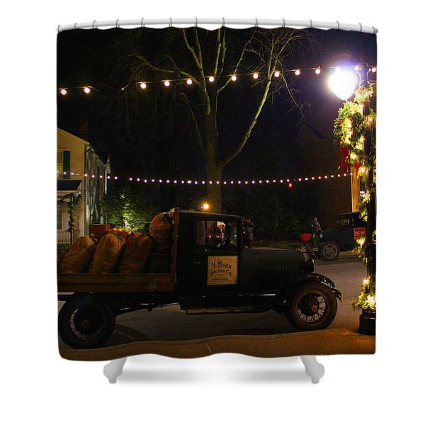 Christmas Village Shower Curtain