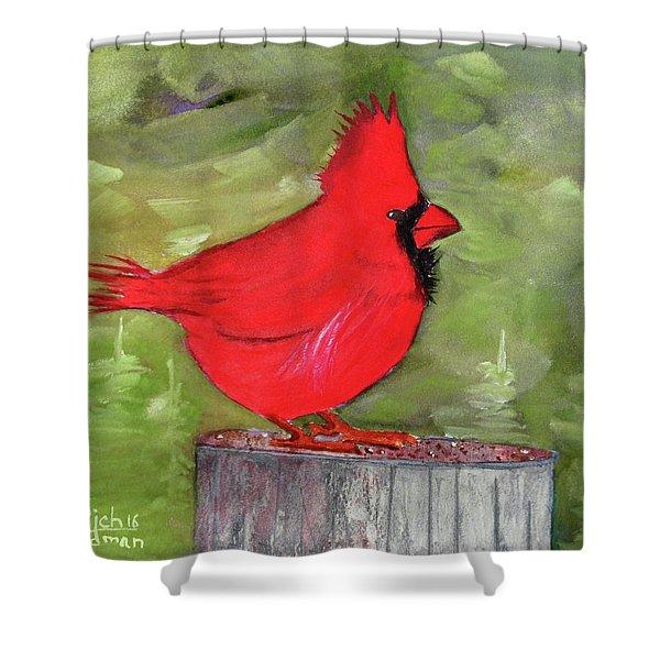 Christopher Cardinal Shower Curtain