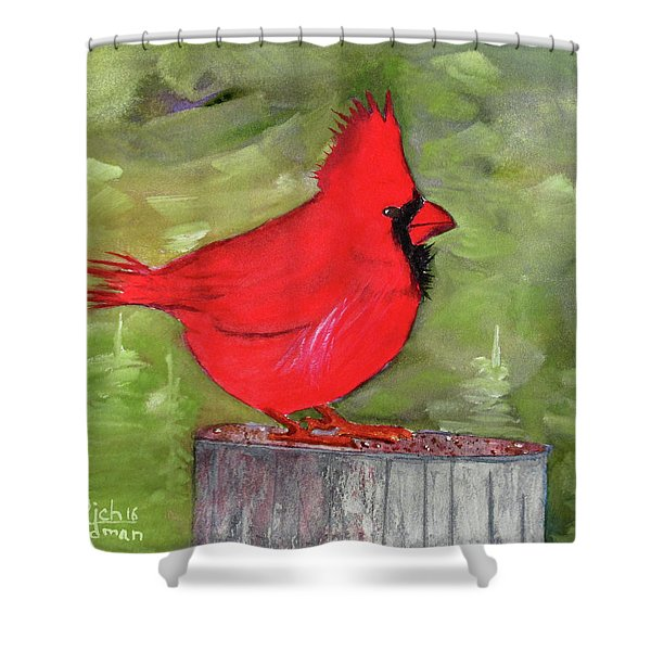 Christopher Cardinal Shower Curtain