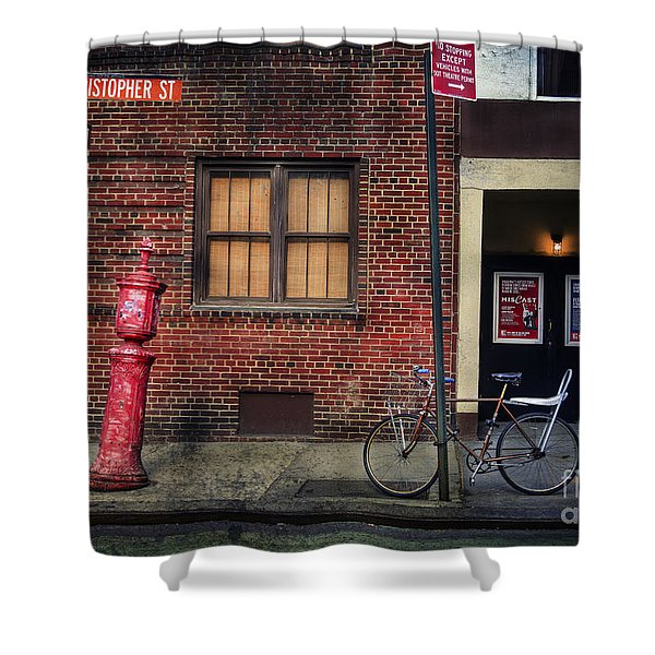 Christopher St. Bicycle Shower Curtain