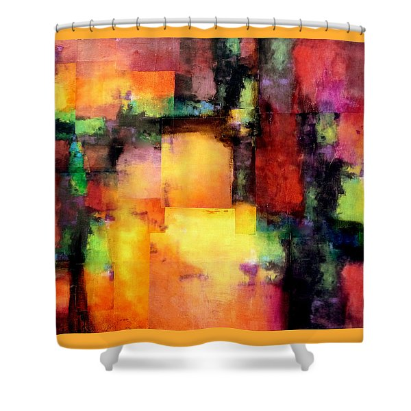 Sunset Exponential Shower Curtain