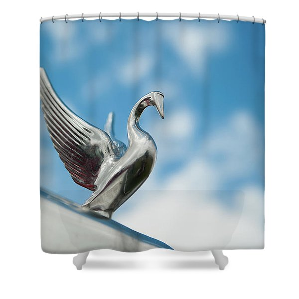 Chrome Swan Shower Curtain