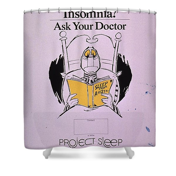 Chronic Insomnia Shower Curtain