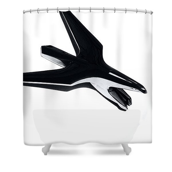 Shower Curtain featuring the photograph Chrysler Eagle Mascot by Michael Hope