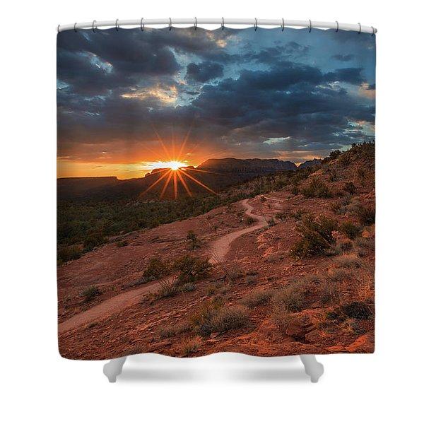 Chuck Wagon Sedona Sunset  Shower Curtain