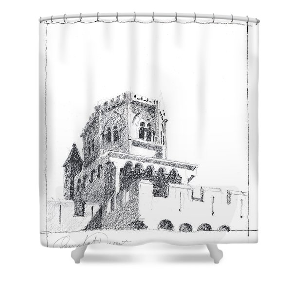Church At Chamalieres Shower Curtain