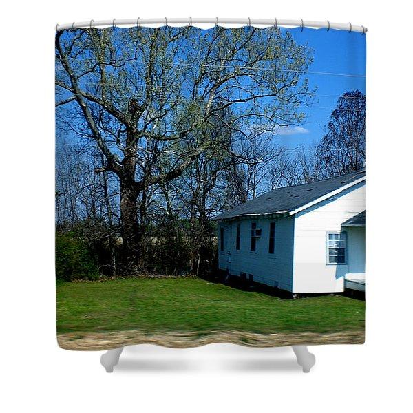 Church Highway 61 Shower Curtain