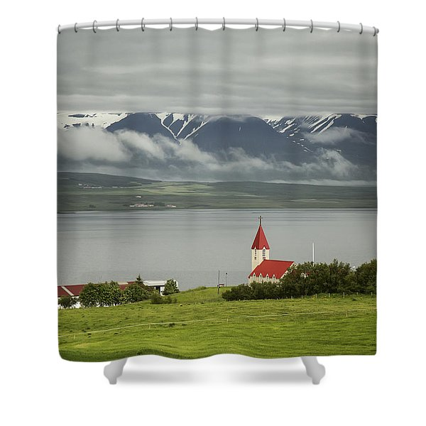 Church In Akureyri Shower Curtain