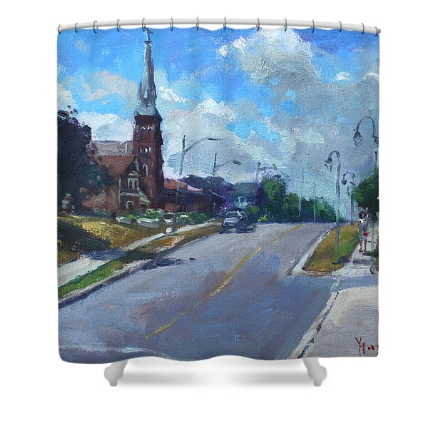 Church In Georgetown Downtown  Shower Curtain