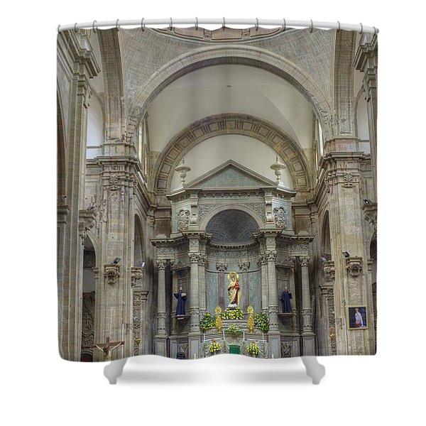Church In Guanajuato Shower Curtain