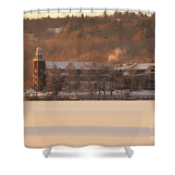 Church Landing In January Shower Curtain