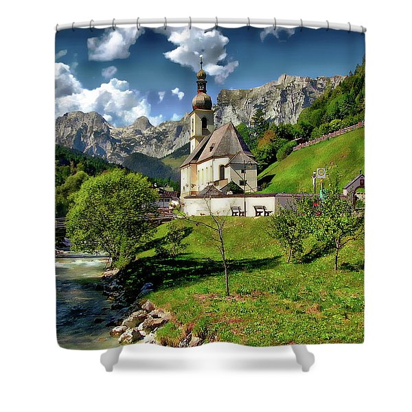 Church Of St. Sebastian Shower Curtain