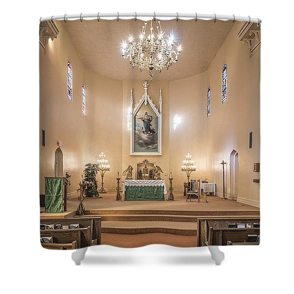 Church Of The Assumption Of The Blessed Virgin Altar Shower Curtain