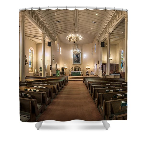 Church Of The Assumption Of The Blessed Virgin Pano Shower Curtain