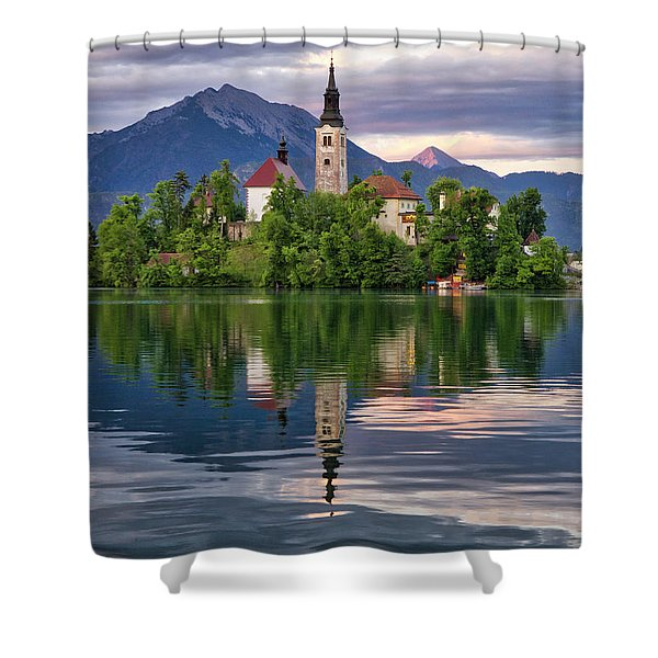 Church Of The Assumption. Shower Curtain