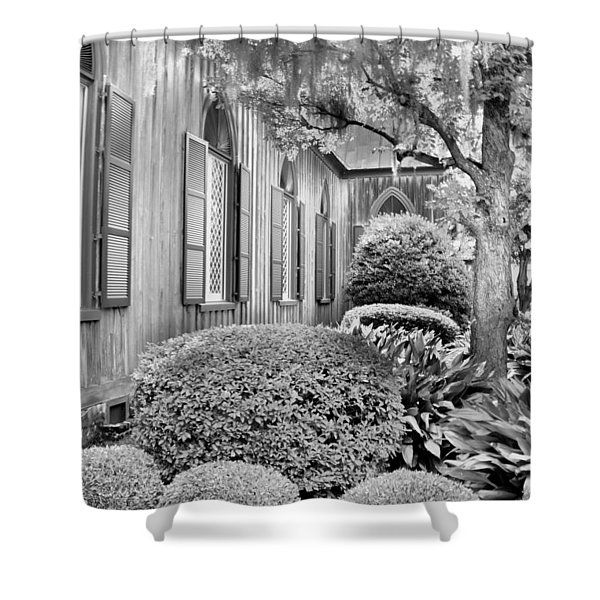 Church Of The Cross Bluffton Sc Black And White Shower Curtain