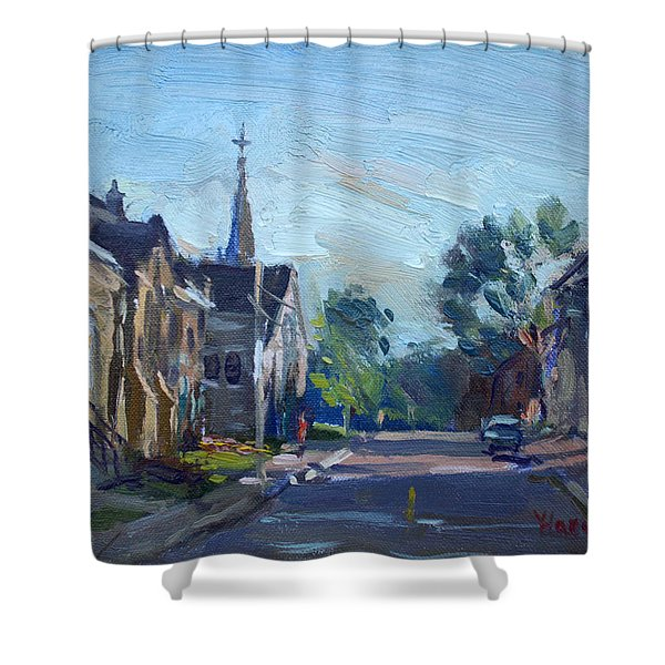 Churche In Downtown Georgetown On Shower Curtain