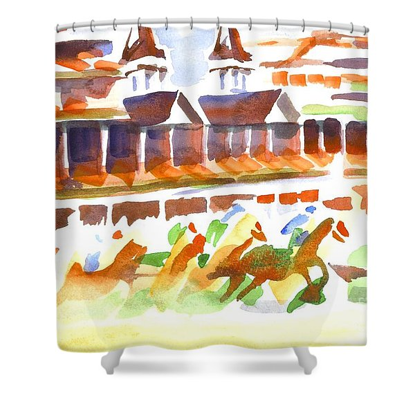 Churchill Downs Watercolor Shower Curtain