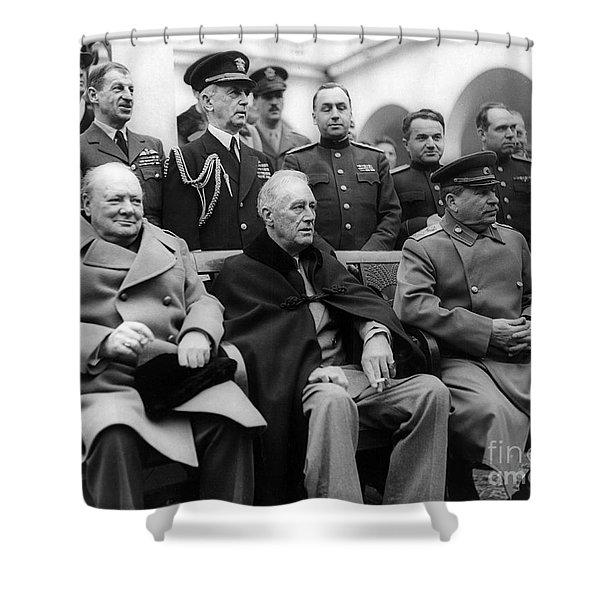 Churchill, Roosevelt And Stalin Shower Curtain