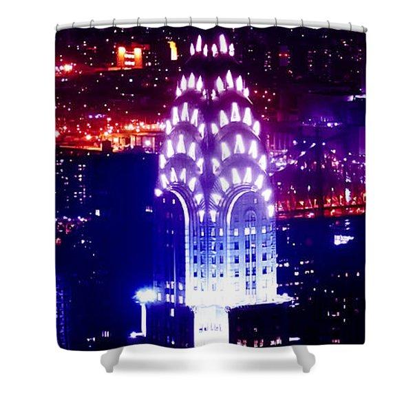 Chyrsler Lights Shower Curtain