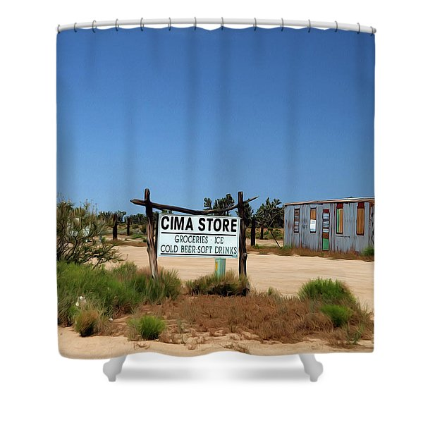 Cima Store  Closed Till Later Shower Curtain