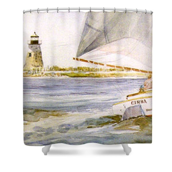 Cimba At Bird Island Light Shower Curtain
