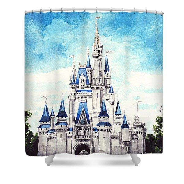 Cinderella's Castle Shower Curtain