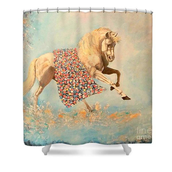 Cinderellas Unicorn Shower Curtain